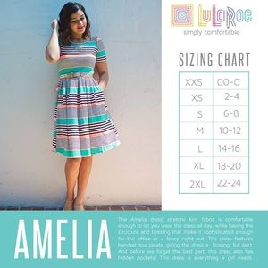 LuLaRoe Dresses - (LIKE NEW) LuLaRoe | Amelia Dress